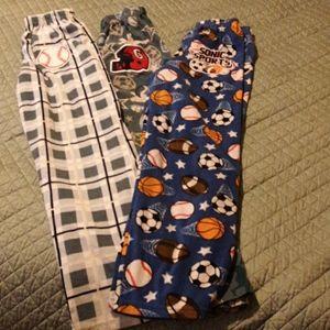 Set of 3 Steve boys flannel pajama pants
